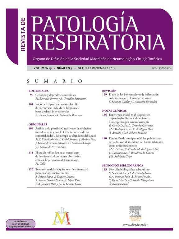 Revista de Patología Respiratoria