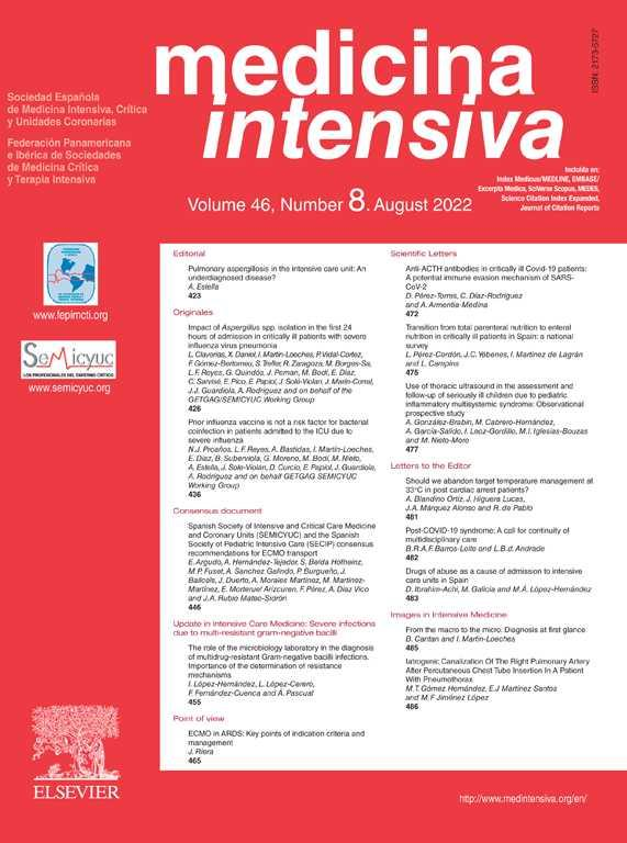 Handover in Intensive Care | Medicina Intensiva (English
