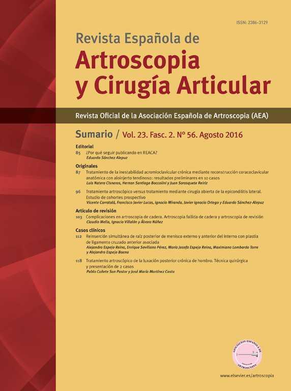 Revista Española de Artroscopia y Cirugía Articular