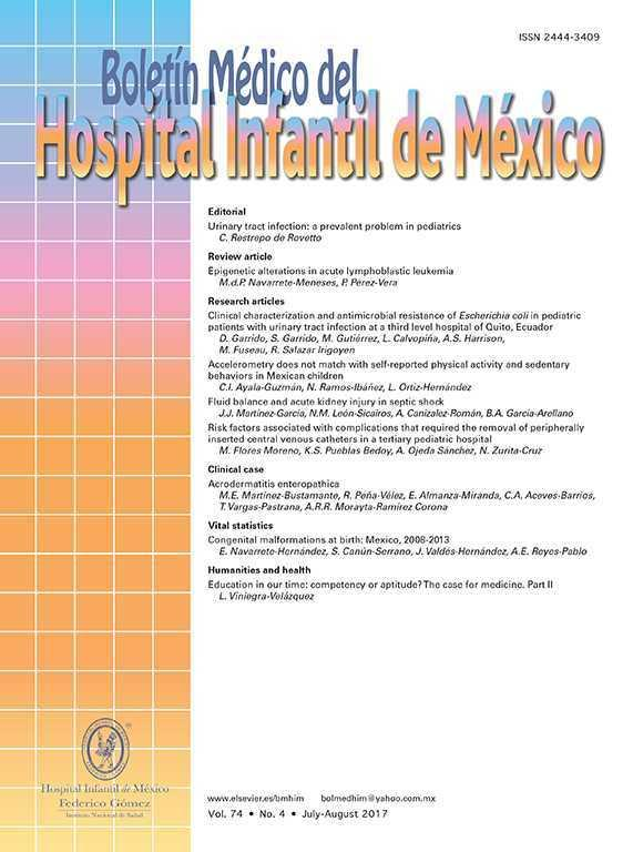 Boletín Médico del Hospital Infantil de México (English Edition)